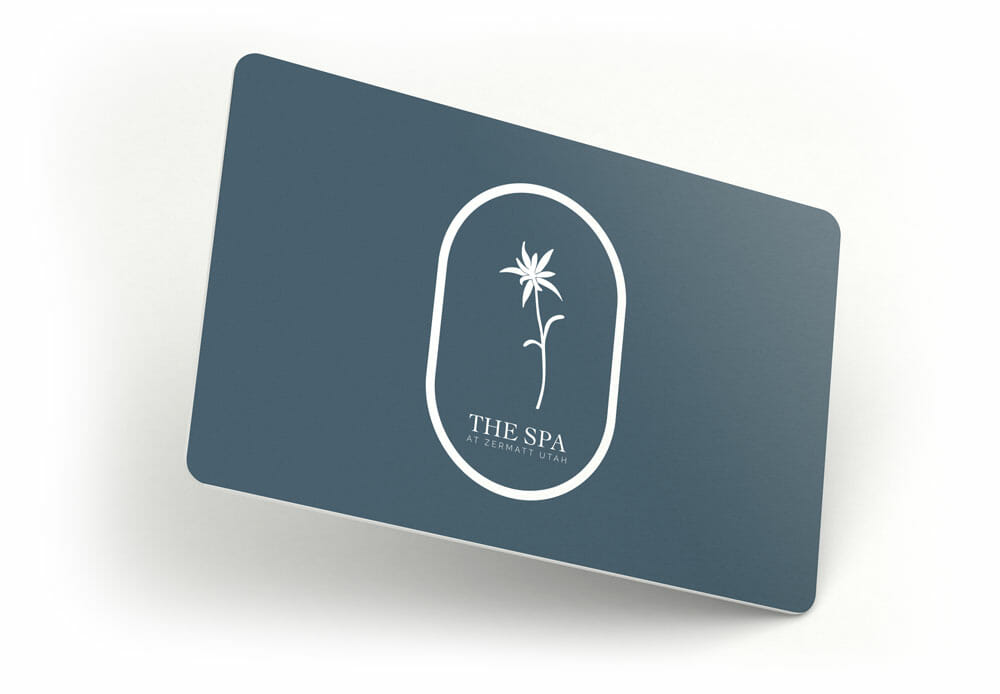 Gift card mockup spa